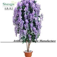 cheap artificial wisteria tree purple color high quality indoor