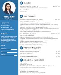 Resume Template One Page Create A Professional Resume 5 Standard Cv Template Onepage