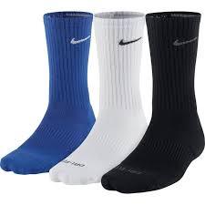 nike dri fit cushion crew socks 3 pack s sporting goods
