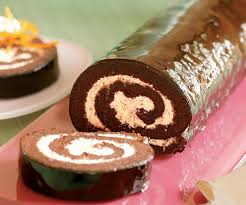 chocolate roulade with orange vanilla filling finecooking