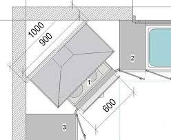 hotte cuisine angle comment poser une hotte en angle dans une cuisine schéma