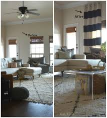 Diy Drop Cloth Curtains Diy No Sew Painted Drop Cloth Curtain Panels Two Thirty Five Designs