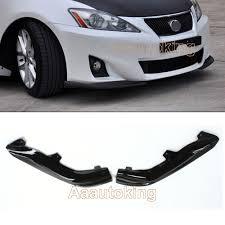 lexus is250 malaysia for sale carbon fiber front splitters side bumper lip spoiler kits for