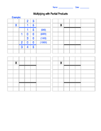 this is a template to use for partial product multiplication you