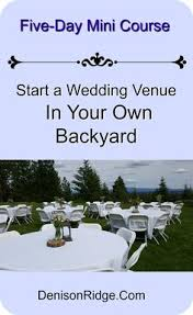 starting a wedding venue business what s it like to strangers in your yard every weekend check