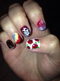 grateful dead nails nailart by so right nail ramblinrose