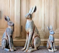 rabbit garden ornament ebay