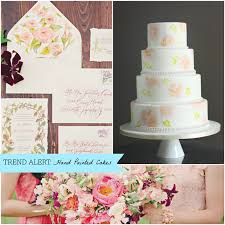 2014 wedding cake trends hand painted wedding cakes