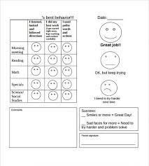 daily behavior report template daily behavior report template professional and high quality