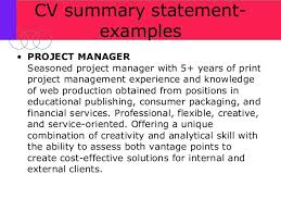 Resume Summary Statement Examples How To Get More Interviews In The Finance Industry