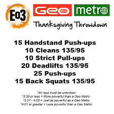 eo3 geo metro thanksgiving throwdown