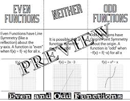 odd and even functions worksheet worksheets