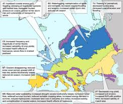 Europe Temperature Map Climate Change In Europe