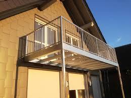 balkon edelstahlgelã nder wohnzimmerz balkonanbau stahl with montagearbeiten also balkon
