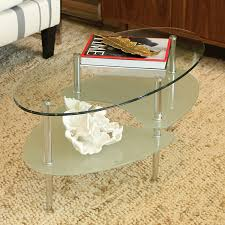 Livingroom Table by Amazon Com Walker Edison Glass Oval Coffee Table Kitchen U0026 Dining