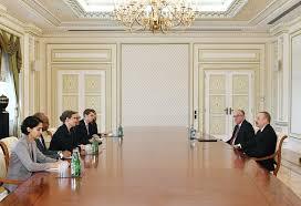 bureau president president ilham aliyev receives us deputy assistant of