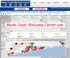 Map Of Maine Coast Here U0027s The Calendar Map Used By The Maine Coast Welcome Center To