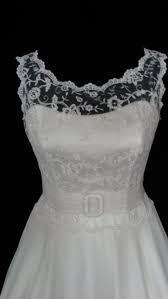hoop wedding dress 1950 s style tea length wedding dress lace bodice with open back