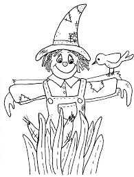 scarecrow coloring sheet pages kindergarten destroyed