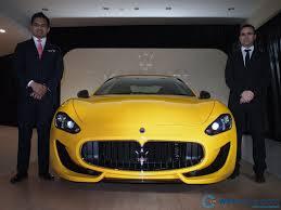 maserati yellow naza italia launches maserati granturismo sport rm1 118 000
