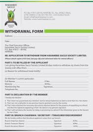 withdrawal letter from a sacco fill online printable fillable