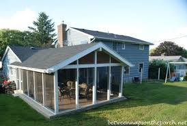 Screen Patio Repair Plain Ideas How Much Does A Screened In Porch Cost Interesting
