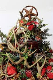 Christmas Tree Decorations With Deer Antlers by Christmas Tree Centerpiece Decoration Made Of Deer Antlers Stock