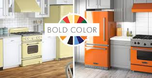 kitchen appliance colors retro and modern stoves ranges ovens big chill bold colors and