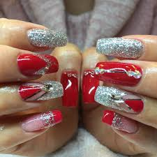 40 latest red and silver nail art design ideas