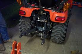 bx24 step by step attach the 3 point hitch