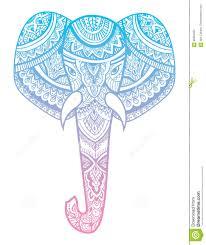 stylized head of an elephant ornamental portrait of an elephant