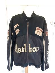 Marlboro Biker Jacket Leather Xl Racing Jacket By Vintage0156 On