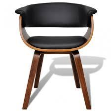 chaises salle manger design 2 chaises de cuisine salon salle manger design noir bois concernant