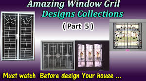 latest window grill designs part 5 youtube