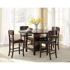 rc willey kitchen table dark walnut 5 piece counter height round dining set hton rc