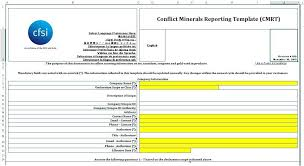 conflict minerals reporting template conflict minerals reporting template best business template