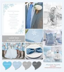 blue and silver wedding color blue and silver