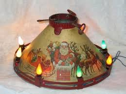 Decorative Christmas Tree Stands by Vintage Christmas Tree Stand Circa 1930 U0027s Noma Litho Lighted