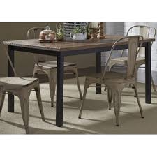 Industrial Kitchen  Dining Tables Youll Love Wayfair - Metal dining room tables