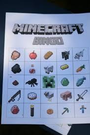 minecraft party games minecraft bingo birthday party game