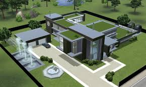 astounding sims 3 modern villa 30 on room decorating ideas with