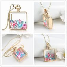 bottle necklace aliexpress images Qinz jewelry transparent crystal lock shape acrylic crystal jpg