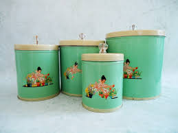 retro kitchen canisters set vintage tin canisters images its in the kitchen