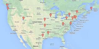 Google Map Of United States by See The Small Towns That Made It To The Big Screen Huffpost
