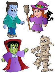 cartoon halloween pic cartoon halloween characters 1 vector illustration royalty free