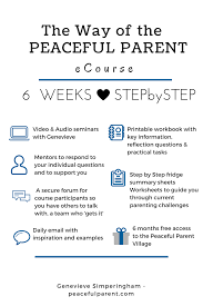 Daily Living Skills Worksheets Peaceful Parenting Ecourse Peaceful Parent