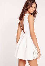 robe patineuse mariage robe patineuse néoprène blanc dos échancré missguided