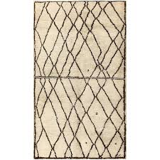 ivory and brown beni ourain rug morocco for sale at 1stdibs