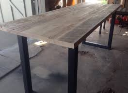 Patio Table Height by Black U0027s Farmwood East Bay Bar Height Reclaimed Wood Table