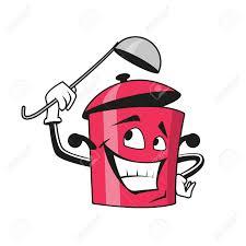 dessin casserole cuisine personnage de dessin animé drôle casserole avec couvercle ouvert et